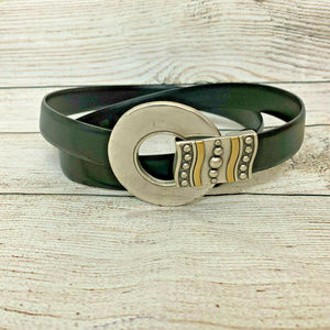 Chico's Adjustable Two Tone O Belt